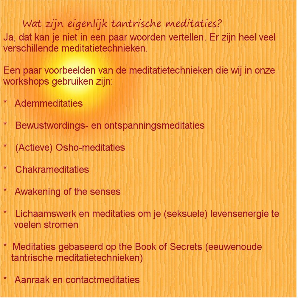 wat zijn tantrische med-def
