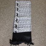 Kasmirische-shawl-zilver-zwart