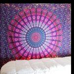 D20 03 Wanddoek Mandala Rood Blauw