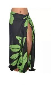 Longhi Zwart Groen Bladmotief