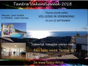 Tantra Vakantieweek 2018